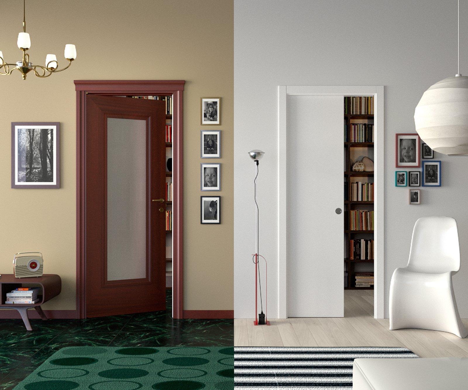 Sfruttare bene lo spazio con porte e contenitori a - Tenda porta scorrevole ...