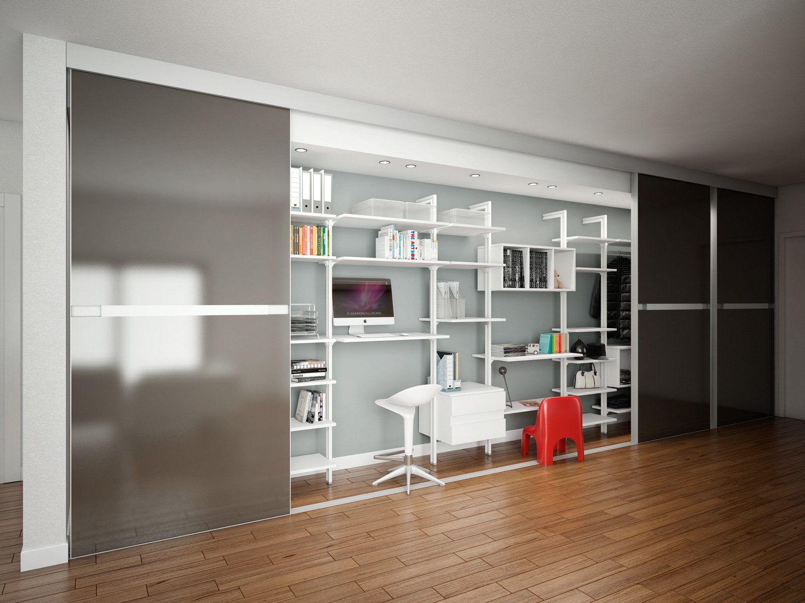 librerie pareti attrezzate multifunzione cose di casa. Black Bedroom Furniture Sets. Home Design Ideas