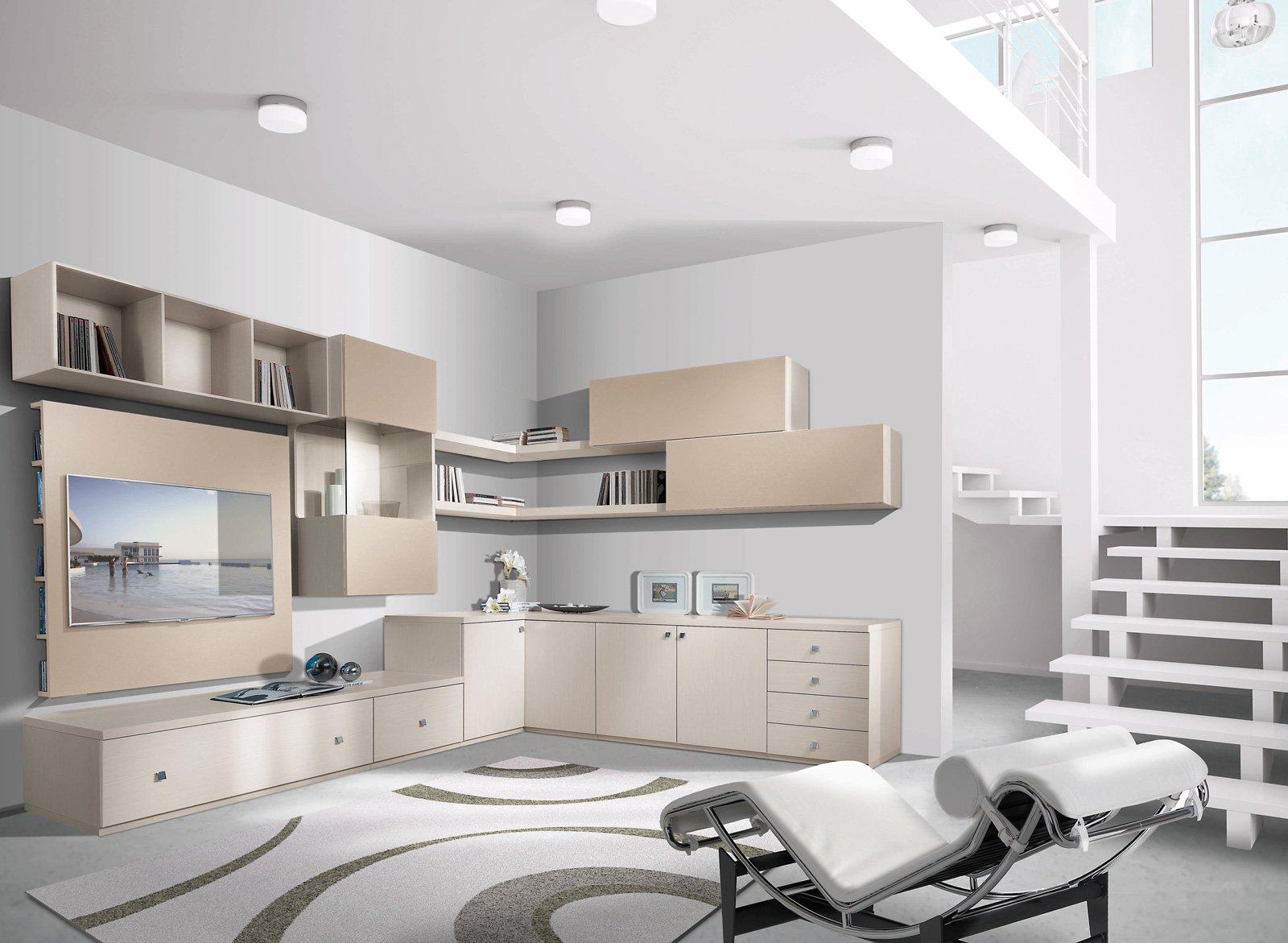 Librerie pareti attrezzate multifunzione cose di casa for Case moderne sotto 100k