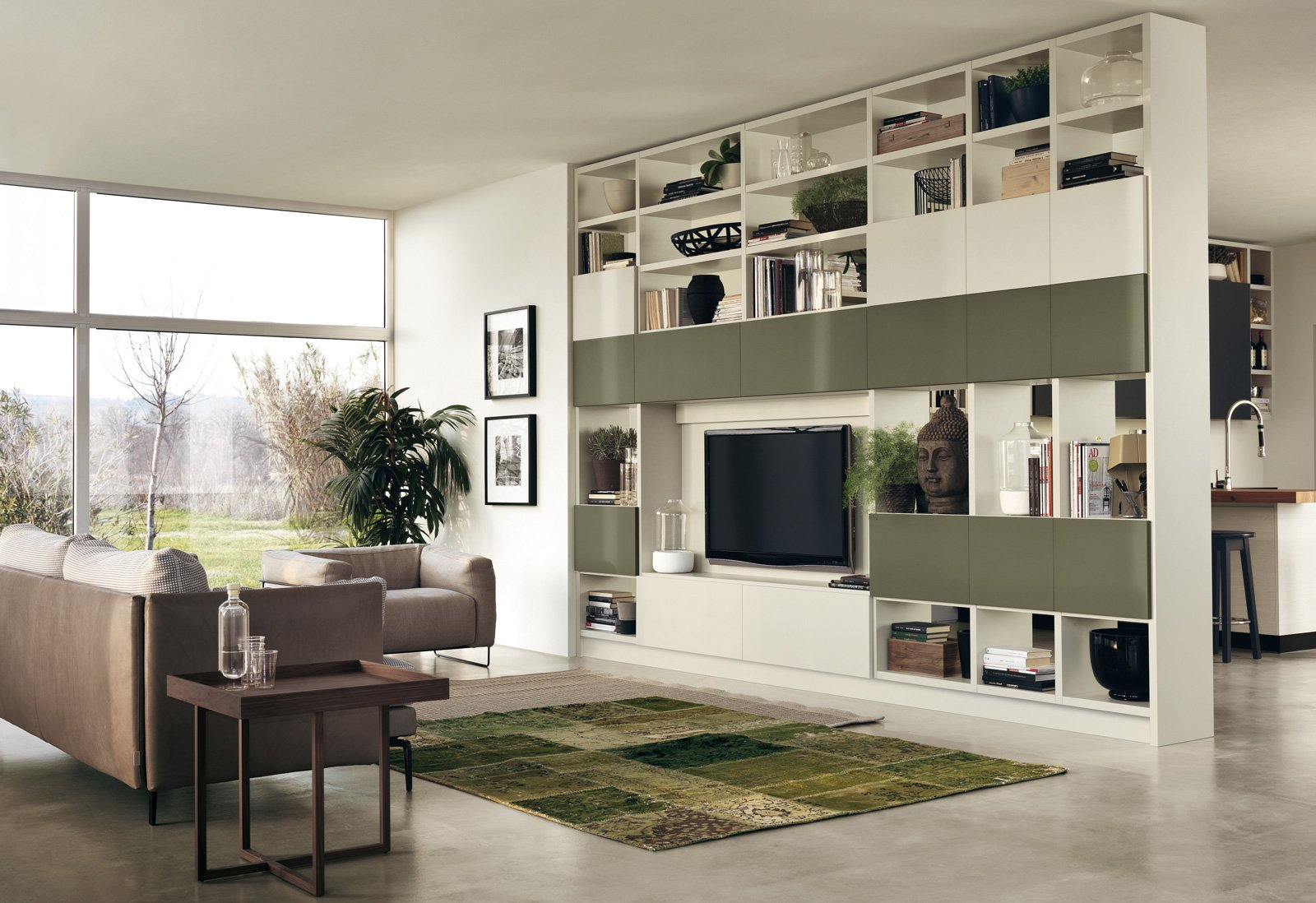 Librerie pareti attrezzate multifunzione cose di casa for Elementi divisori per interni