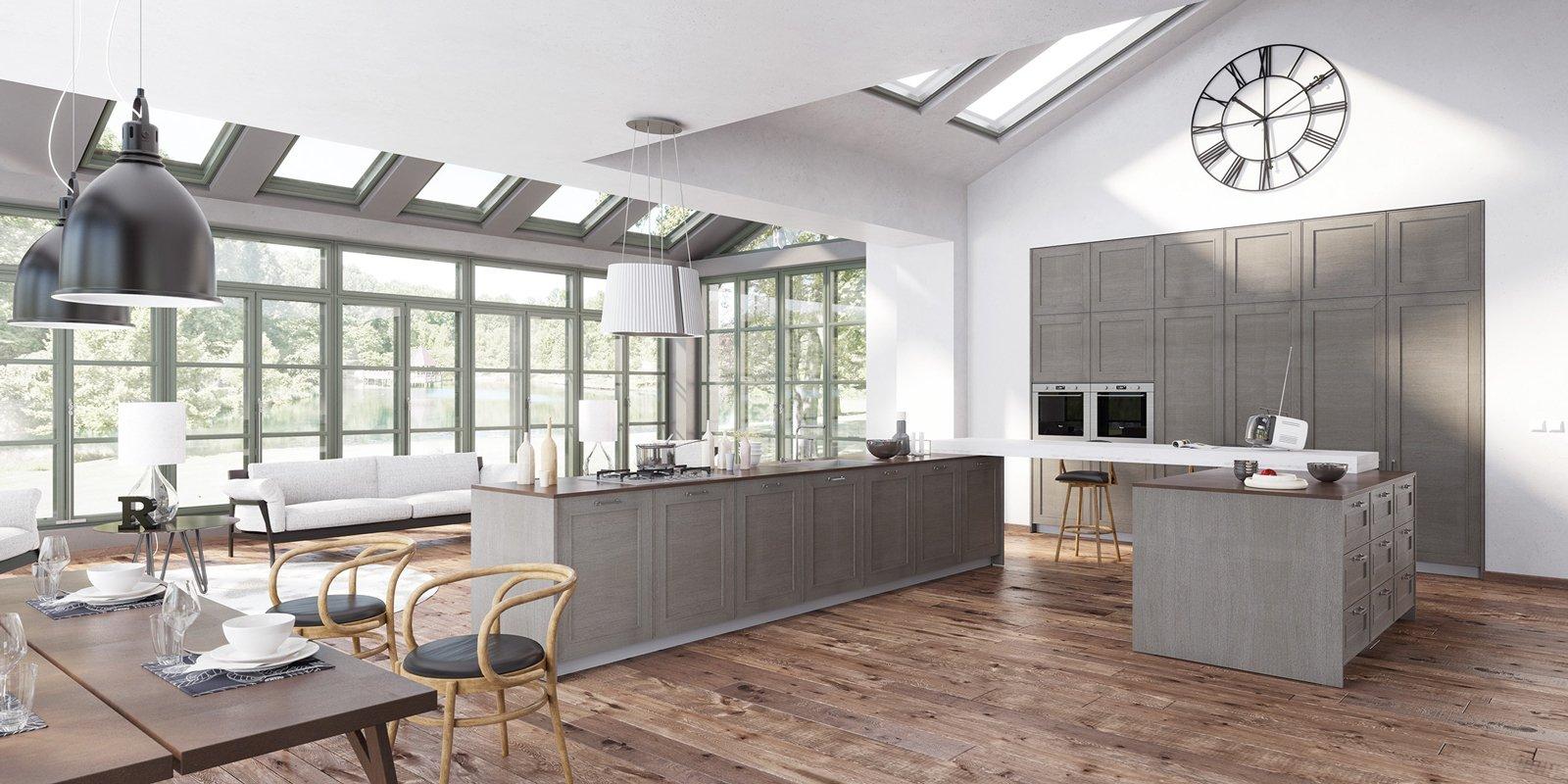 Cucine A Isola Con Bancone Snack O Tavolo Cose Di Casa #765D4F 1600 800 Veneta Cucine Con Bancone