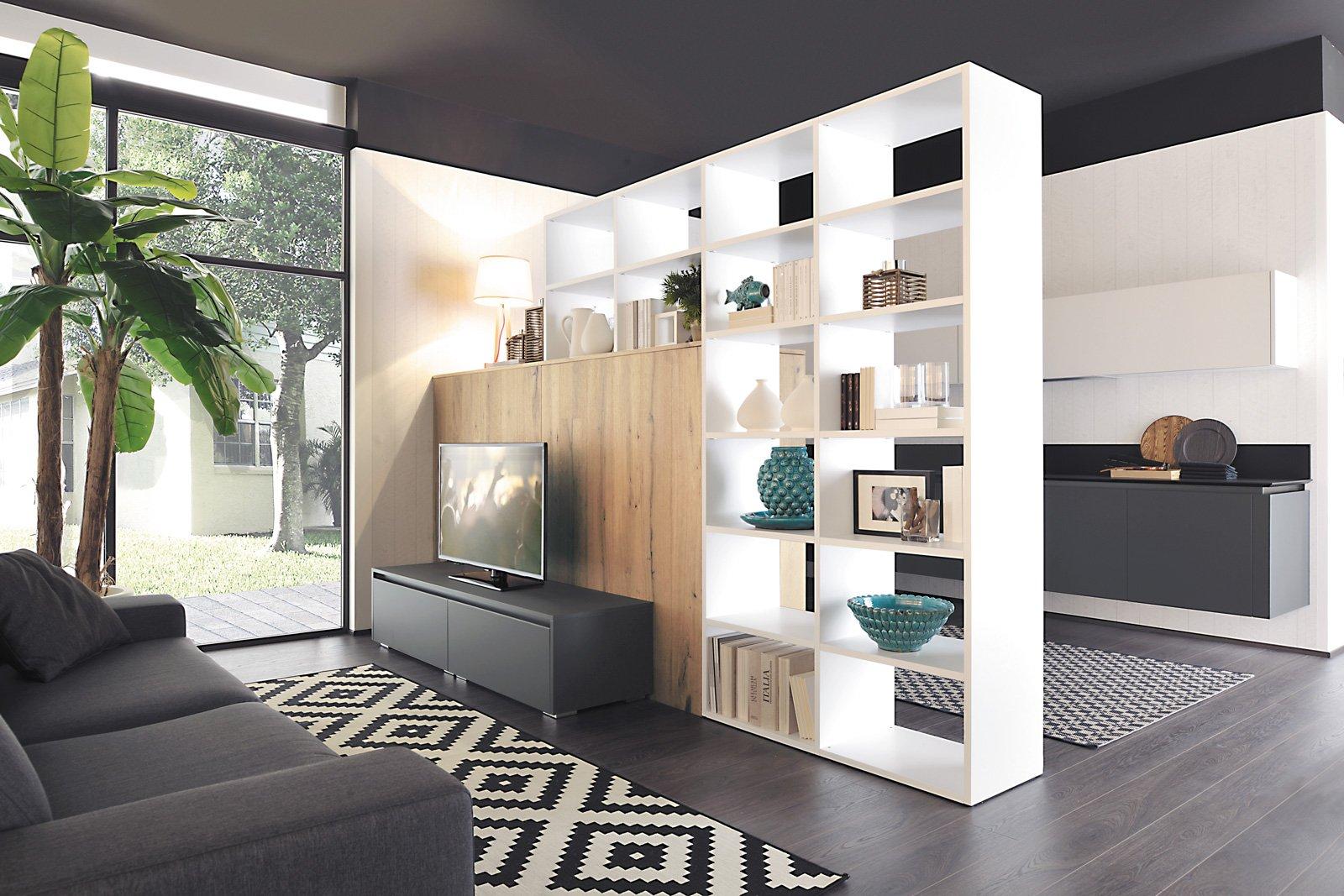 Librerie pareti attrezzate multifunzione cose di casa for Scavolini pareti attrezzate