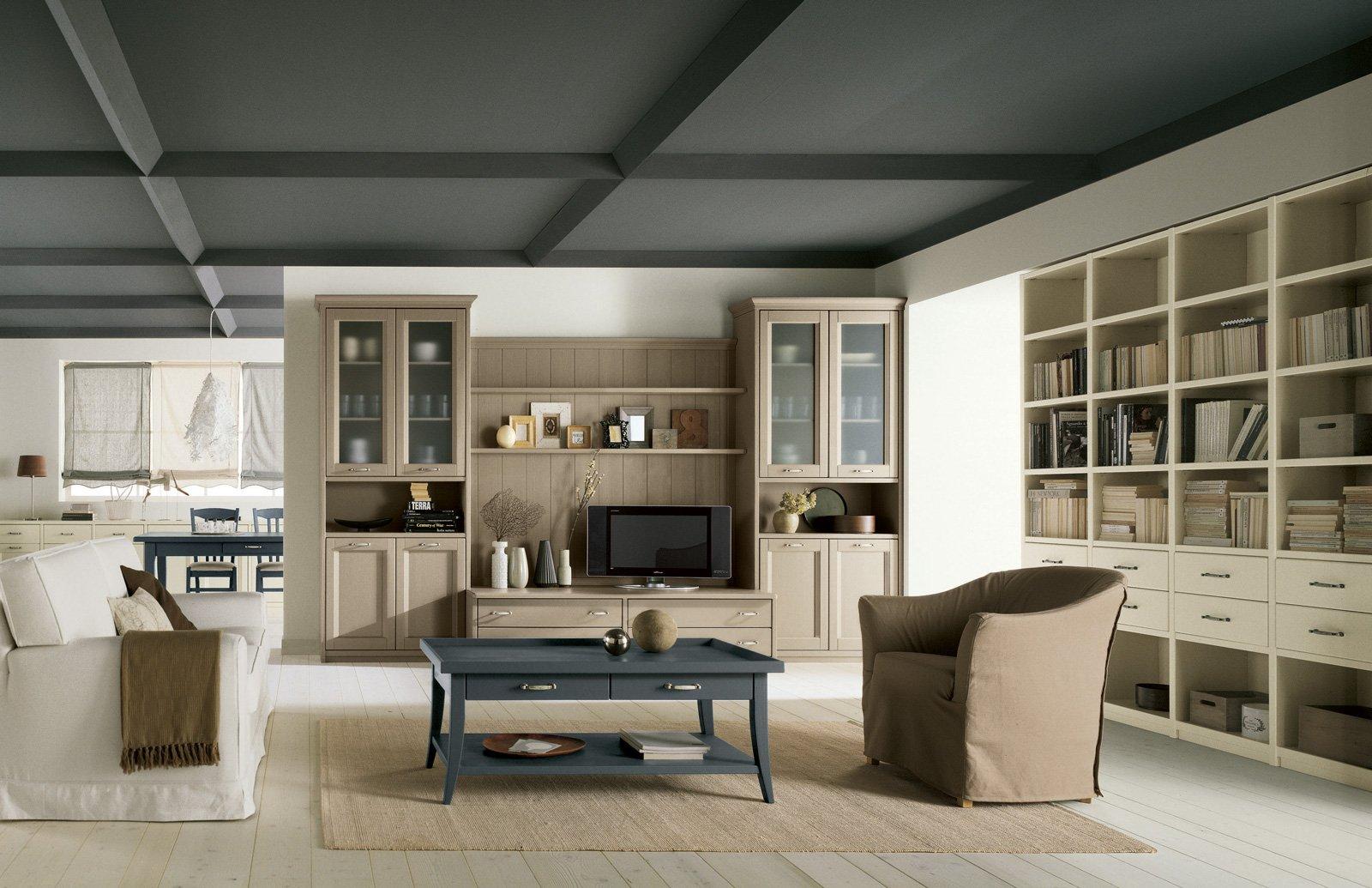 Librerie pareti attrezzate multifunzione cose di casa for Soggiorno living