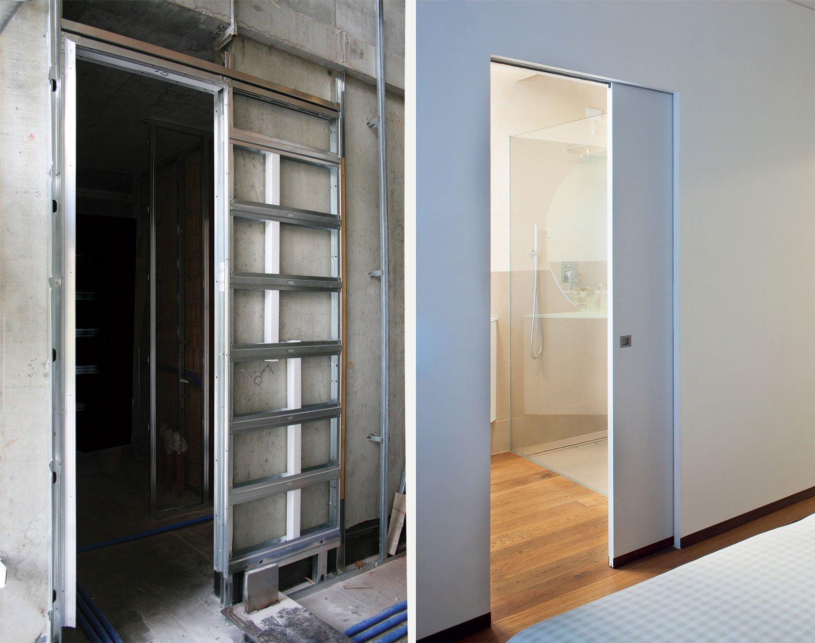 Porta Scorrevole In Parete Di Cartongesso : Sfruttare lo spazio con le porte a scomparsa cose di casa