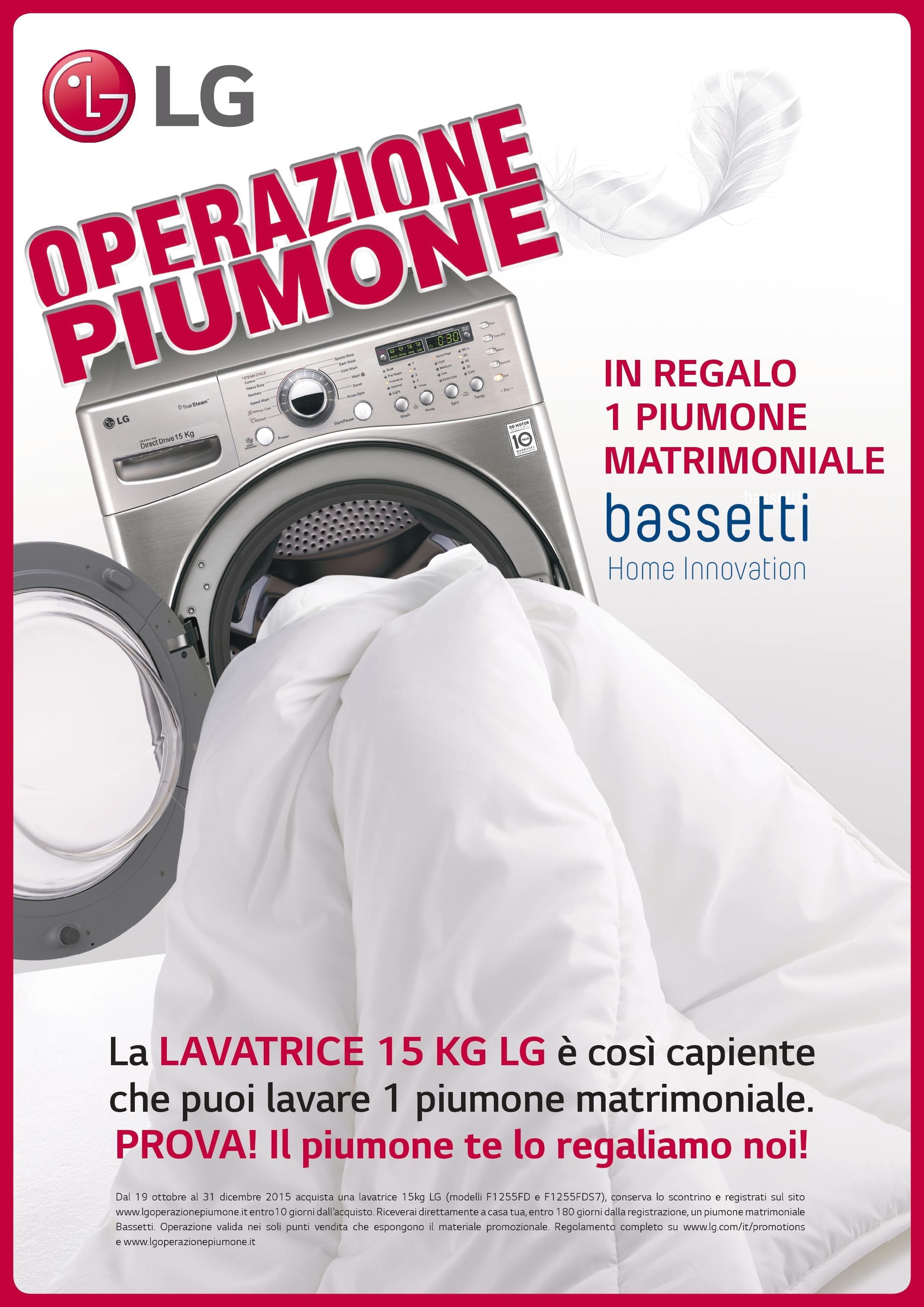 Compri una maxi lavatrice ricevi in regalo un piumone e - Lavatrice per piumoni ...