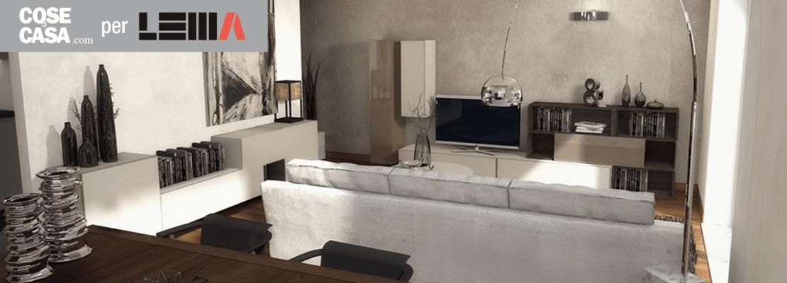 Arredare il soggiorno: un progetto in 3D - Cose di Casa