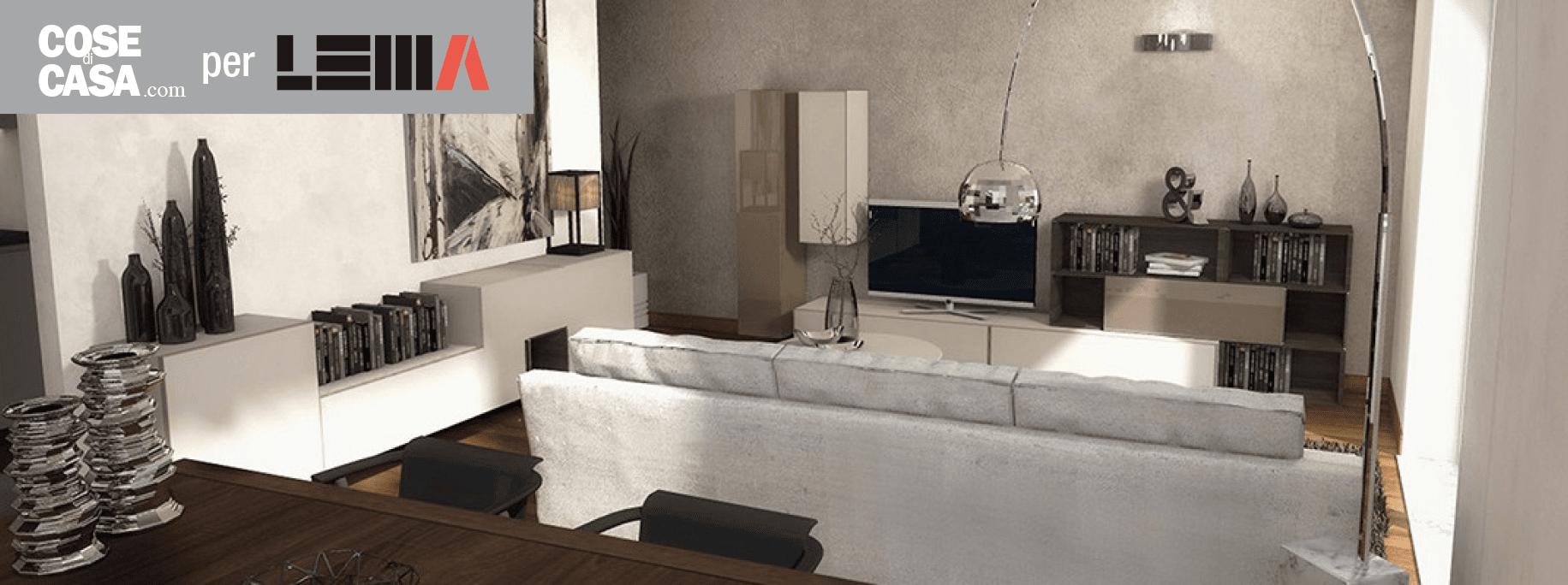 Arredare il soggiorno un progetto in 3d cose di casa for Soggiorno elegante