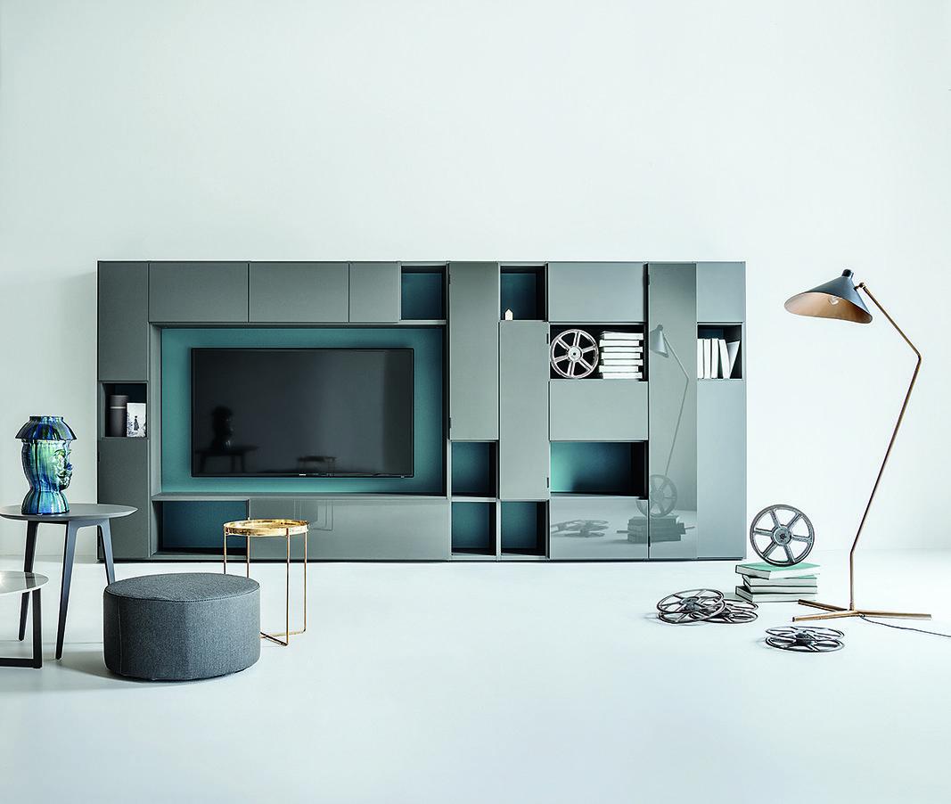 Arredi a sviluppo orizzontale lema contenitori e top protagonisti cose di casa - Mobili lema soggiorno ...