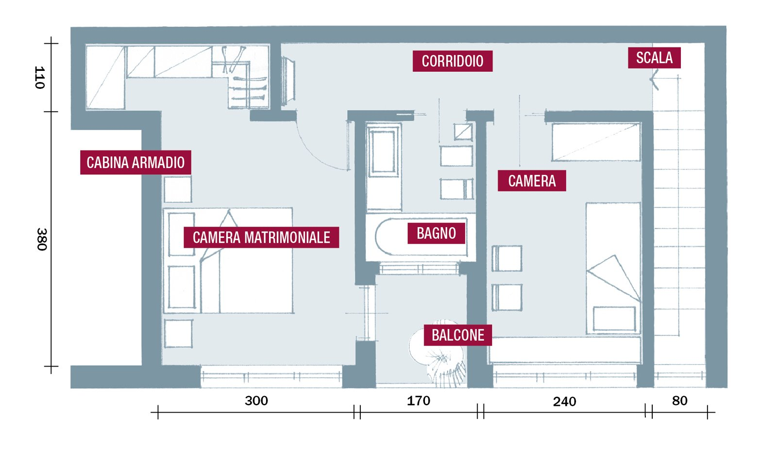 Una casa da copiare 10 idee tra spunti d 39 arredo e decor for Piani casa su due piani degli anni 60
