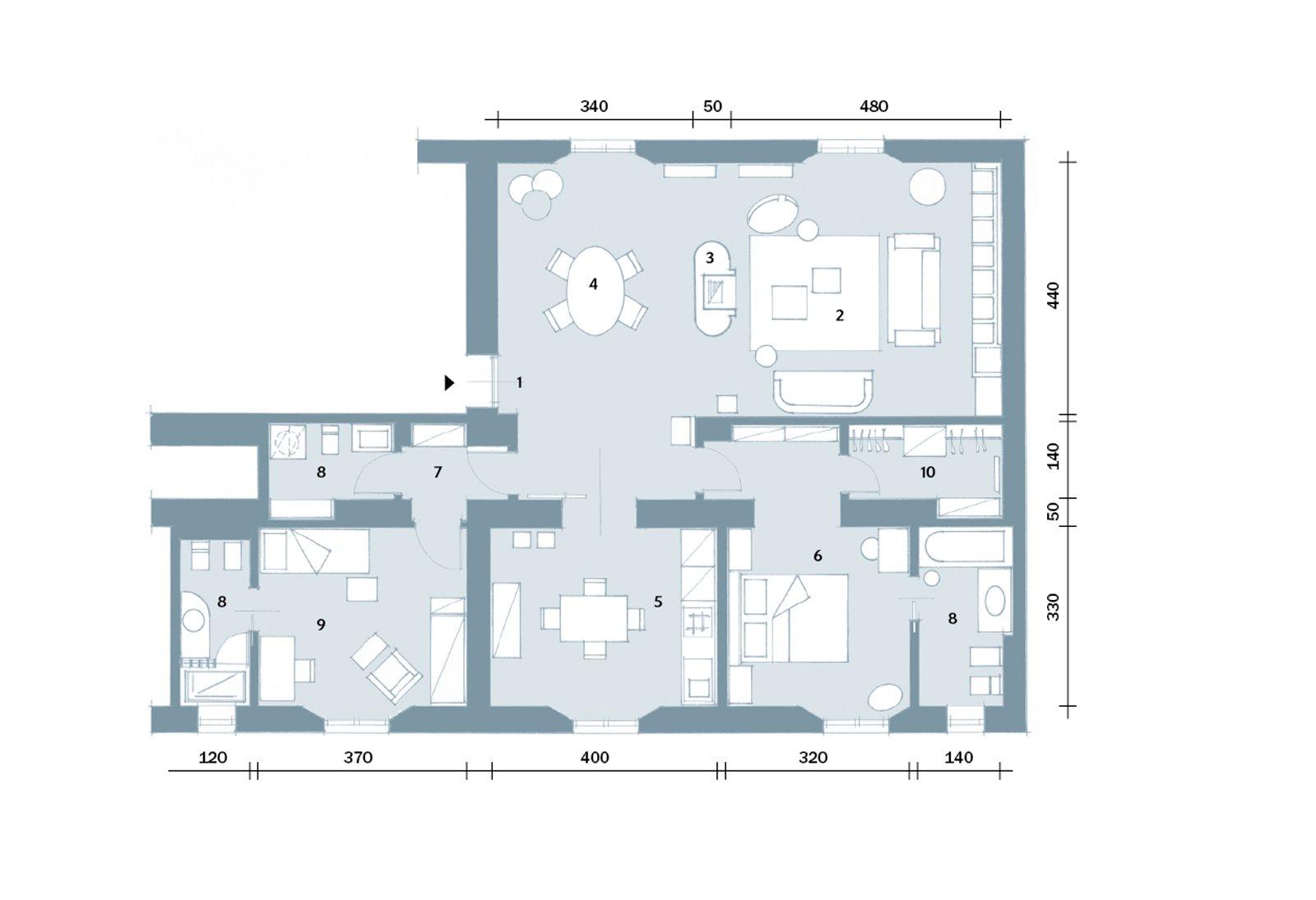 ispirazioni pavimento Patio : Progetto: arch. Ilaria Novembre via F.lli Bronzetti 27 Milano,