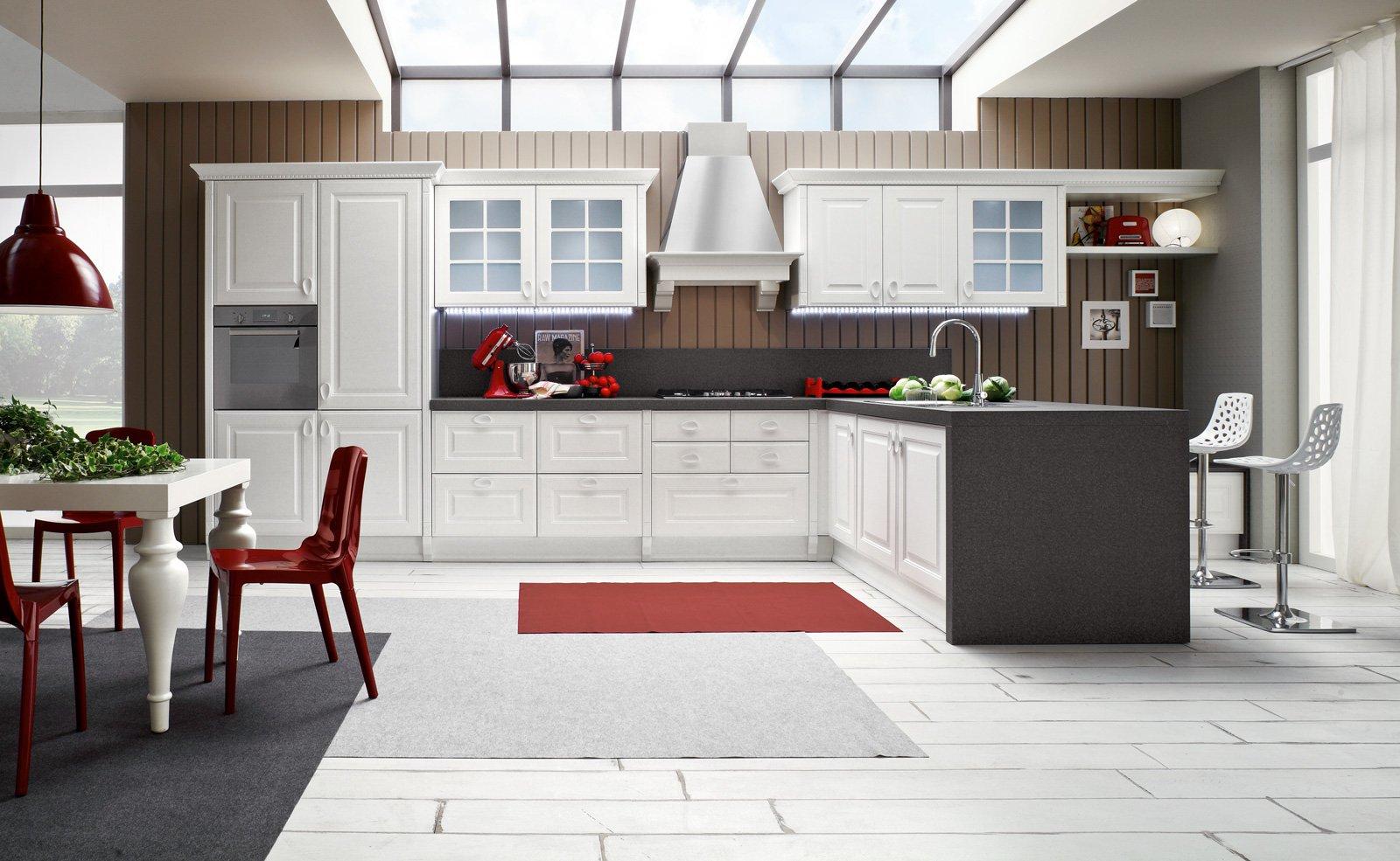Cucine con piani in contrasto cose di casa - Piani cucina laminato ...