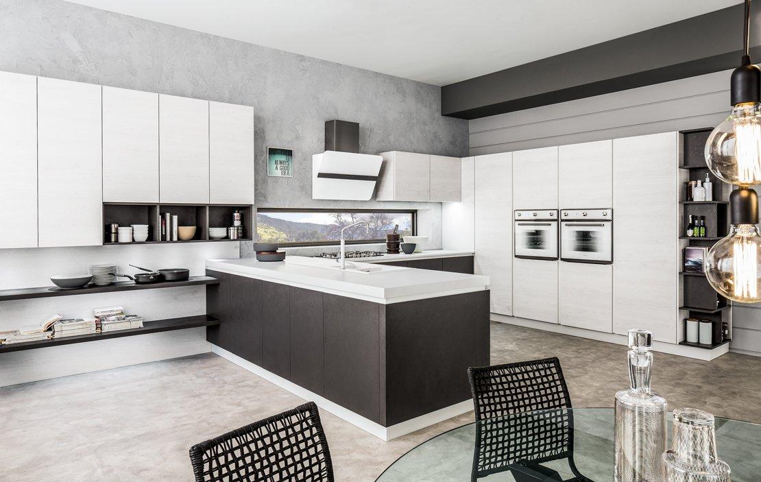 Cucine con penisola grande per separare contenere pranzare cose di casa - Separazione cucina soggiorno ...