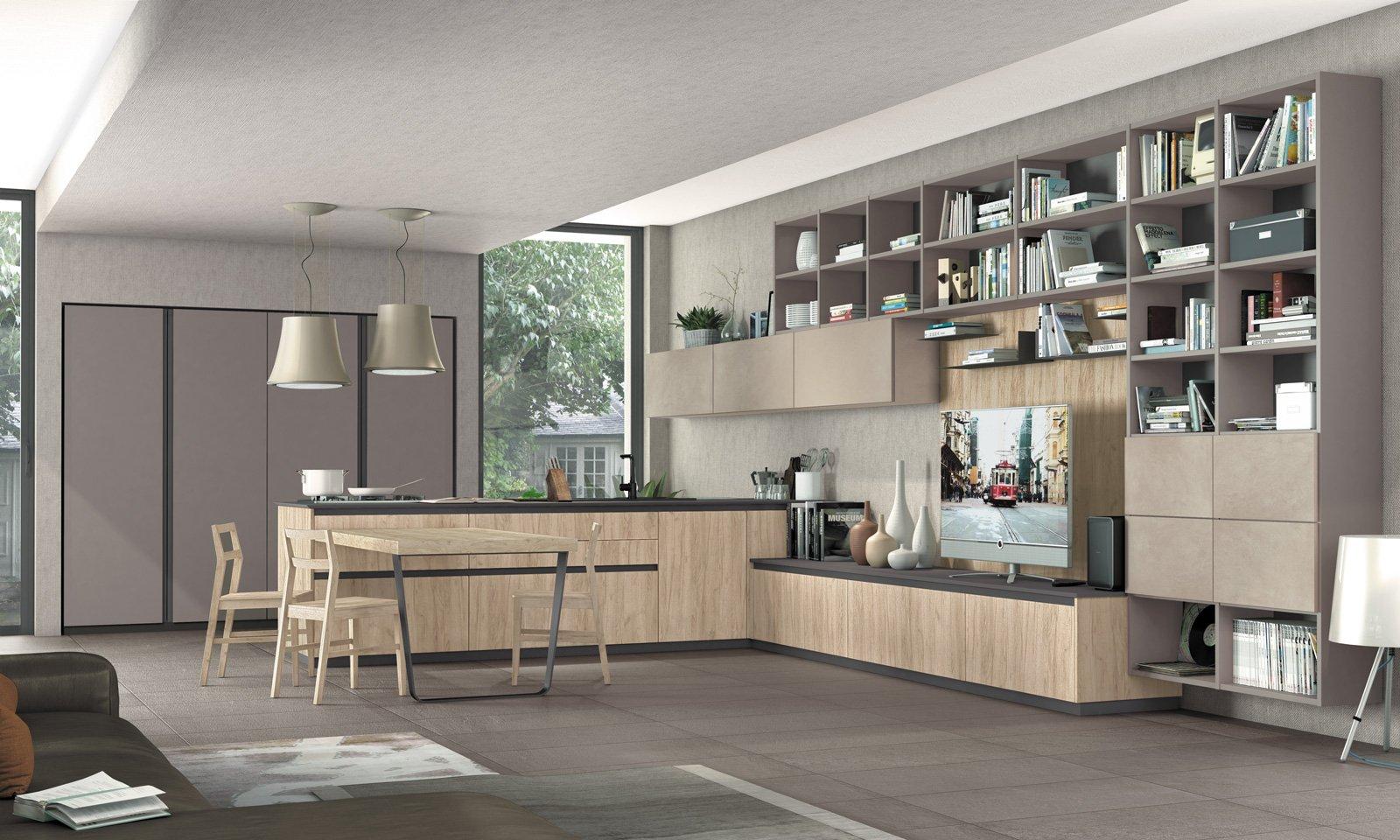 Cucine con penisola grande per separare contenere for Penisola mobile cucina