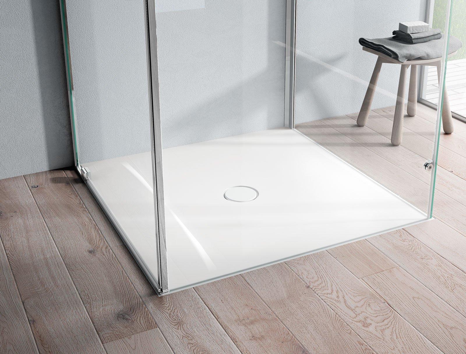 Piatti doccia a filo per un bagno trendy cose di casa - Misure piatto doccia piccolo ...