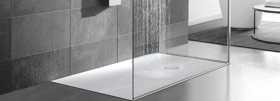 Piatti doccia a filo per un bagno trendy cose di casa - Piatti doccia a filo pavimento ...