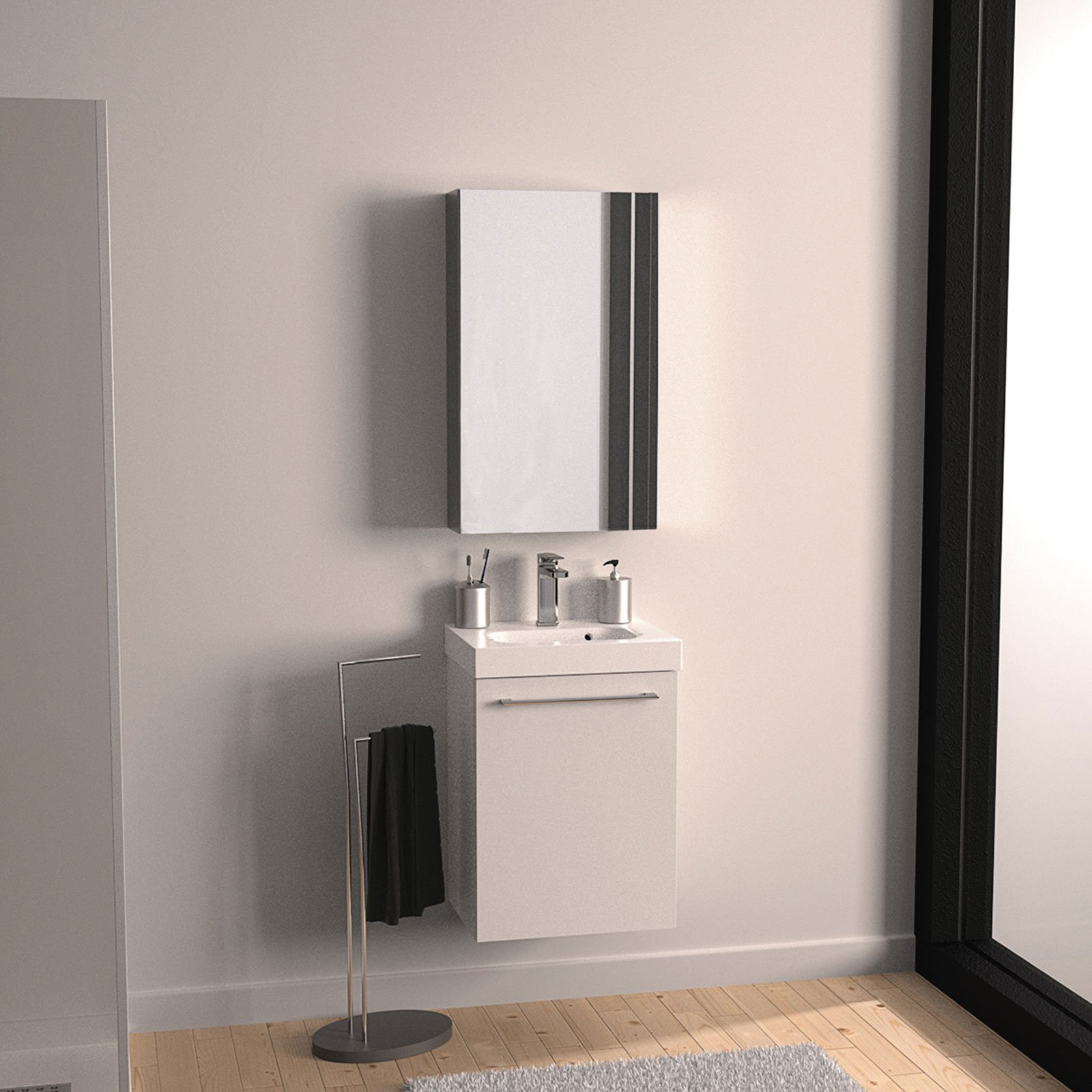 mobili lavabo piccoli per risparmiare centimetri preziosi cose di casa. Black Bedroom Furniture Sets. Home Design Ideas