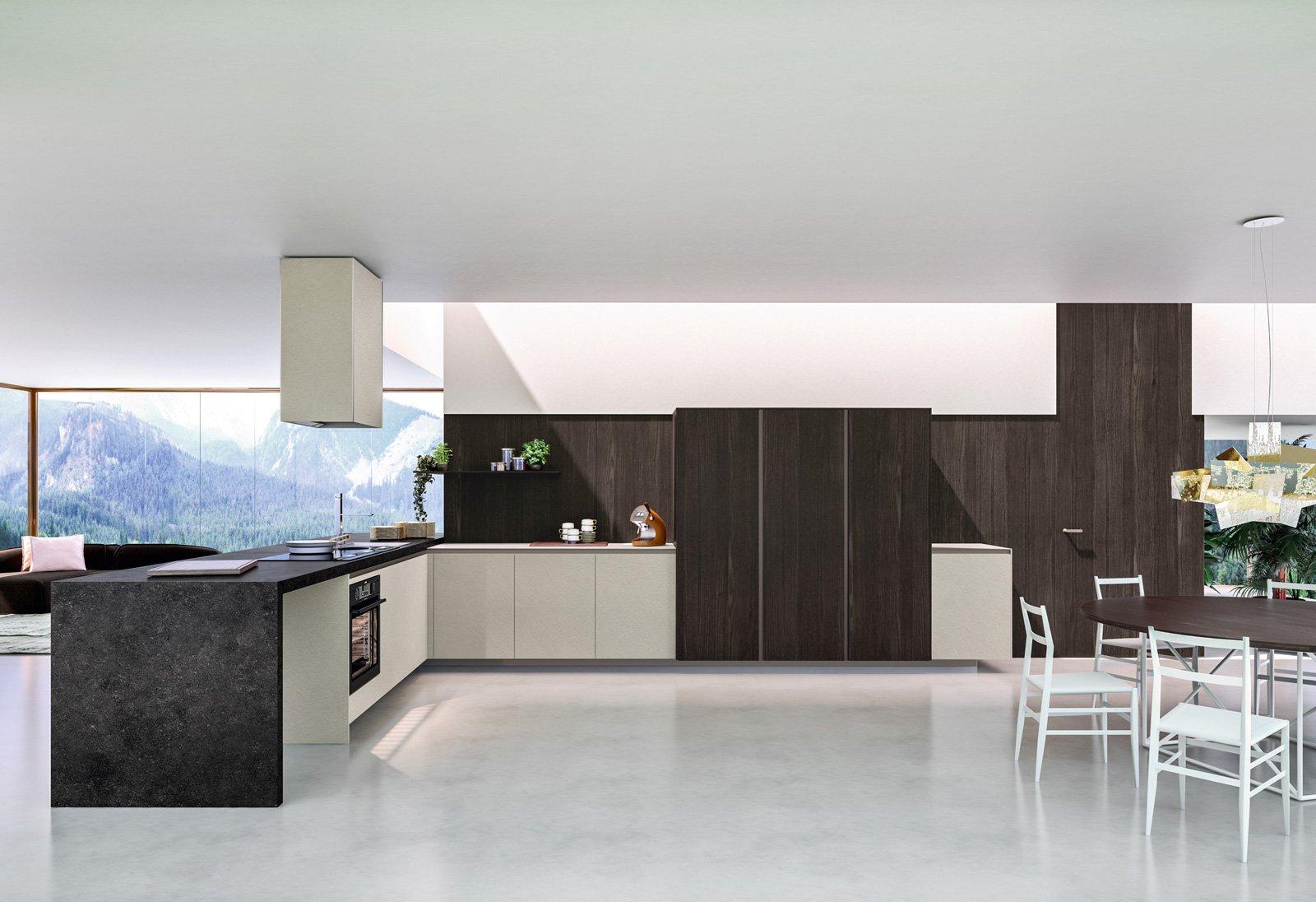 Cucine con penisola grande per separare contenere - Cucine moderne da sogno ...