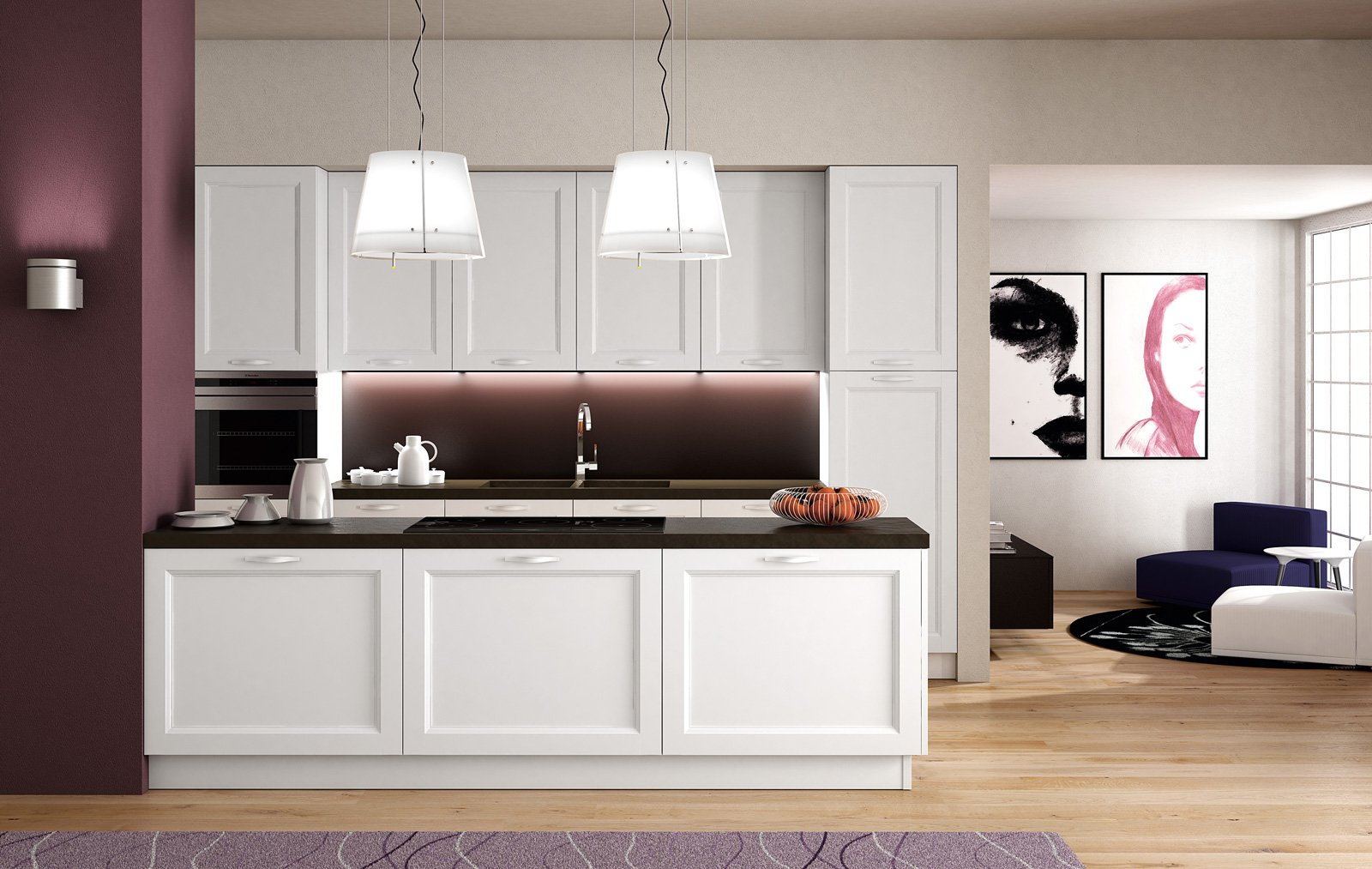 Cucine con piani in contrasto cose di casa - Prezzi cucine berloni ...