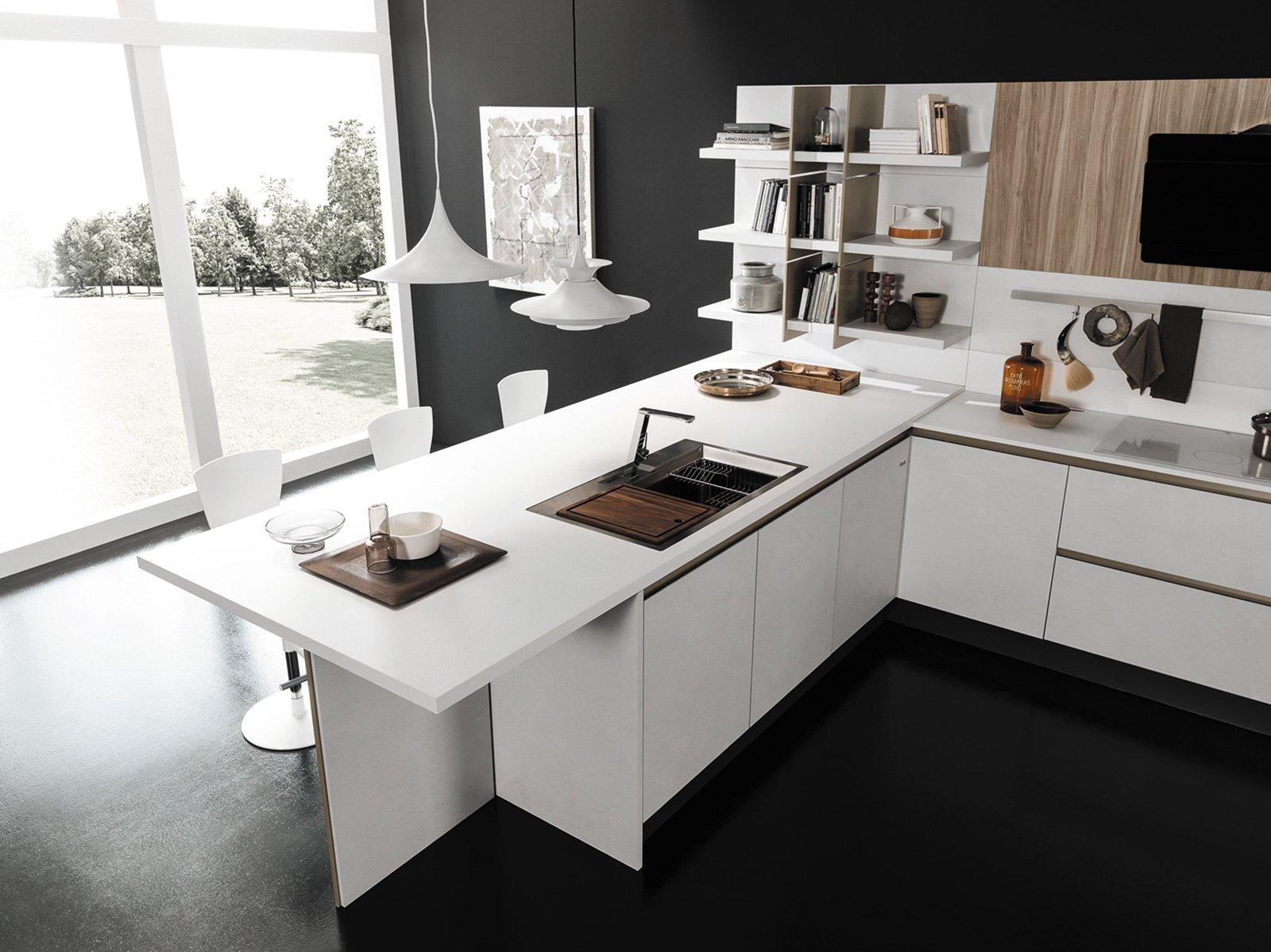 Cucine con penisola grande per separare contenere pranzare cose di casa - Top cucina fenix prezzo ...