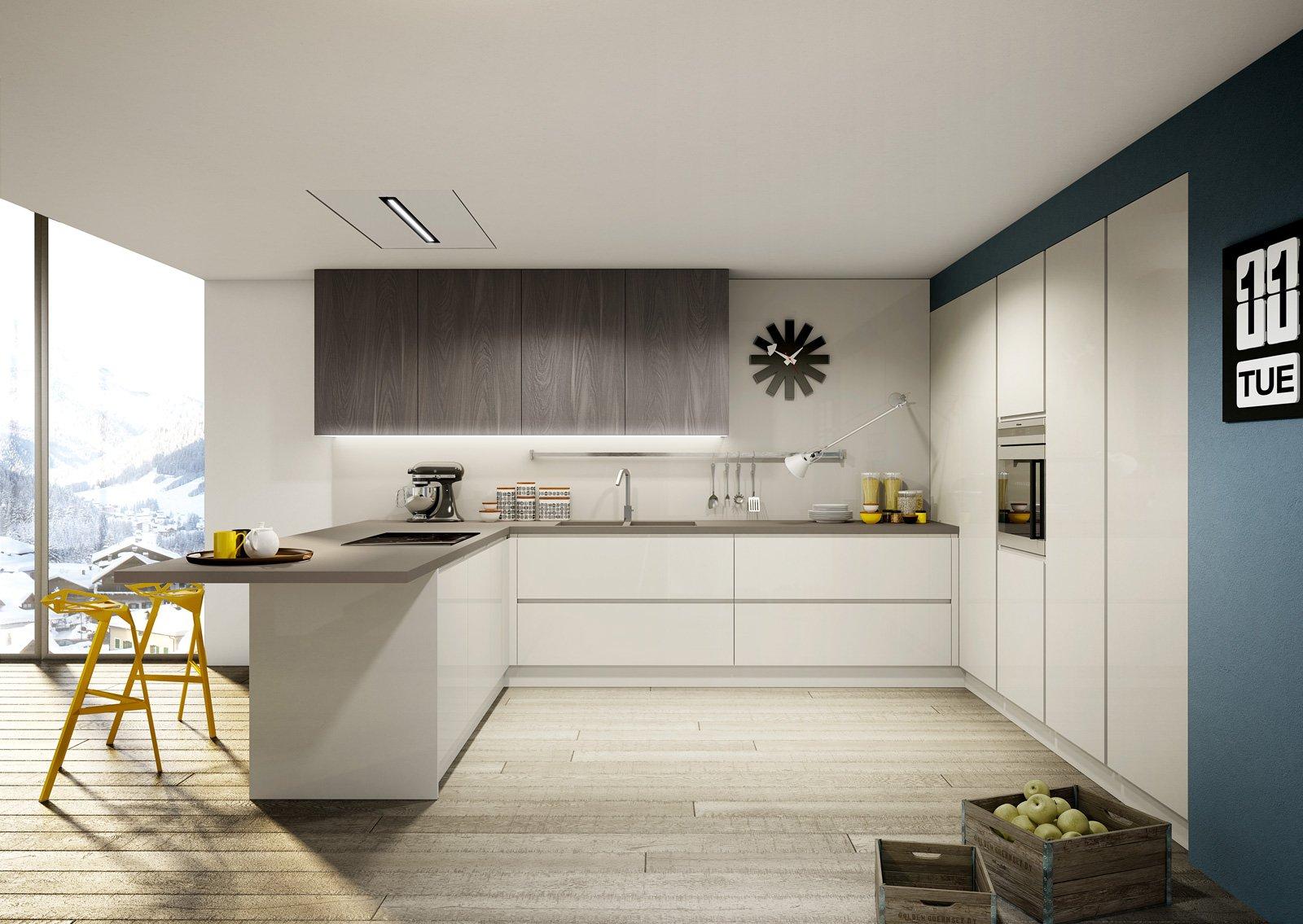 Cucine con penisola grande per separare contenere pranzare cose di casa - Cucine moderne con penisola ...