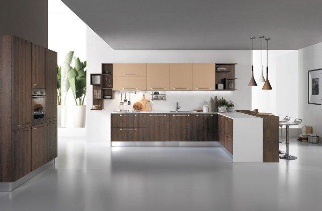 Cucine con piani in contrasto cose di casa - Cucine mobilturi ...