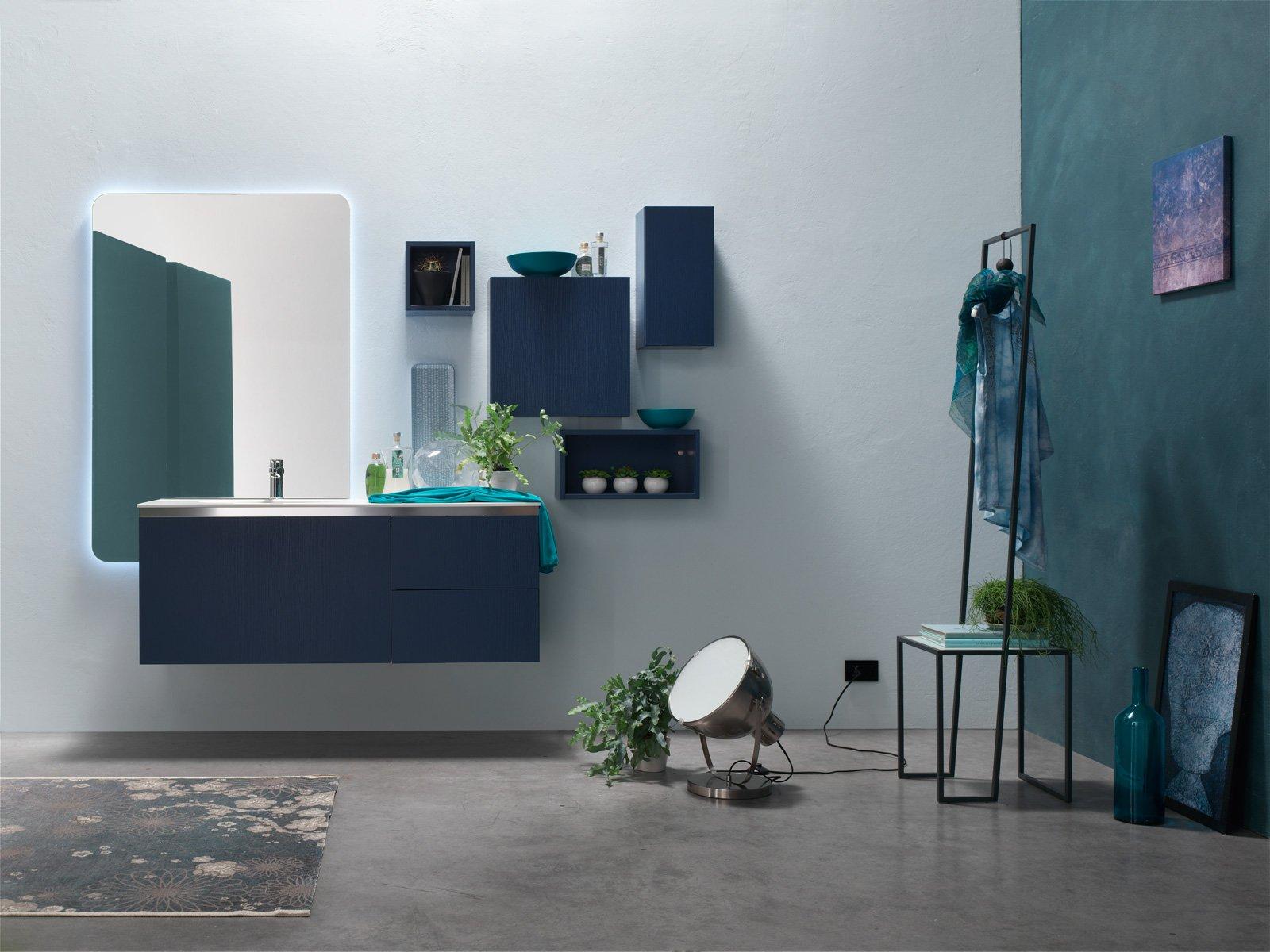 Arcom arreda il bagno con i colori della nuova linea ak - Bagno di colore grigio capelli ...