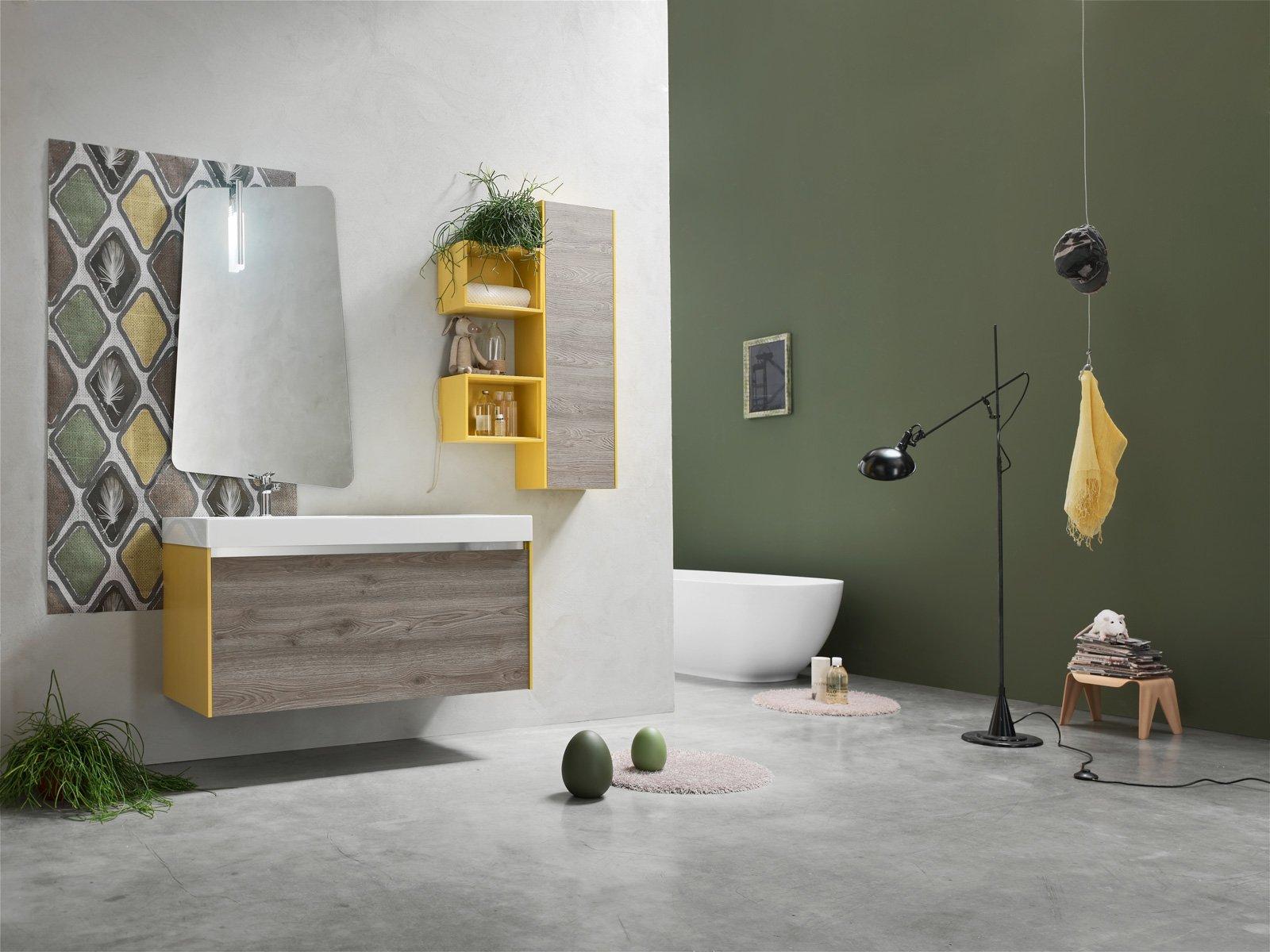 Arcom arreda il bagno con i colori della nuova linea ak - Arcom mobili bagno ...