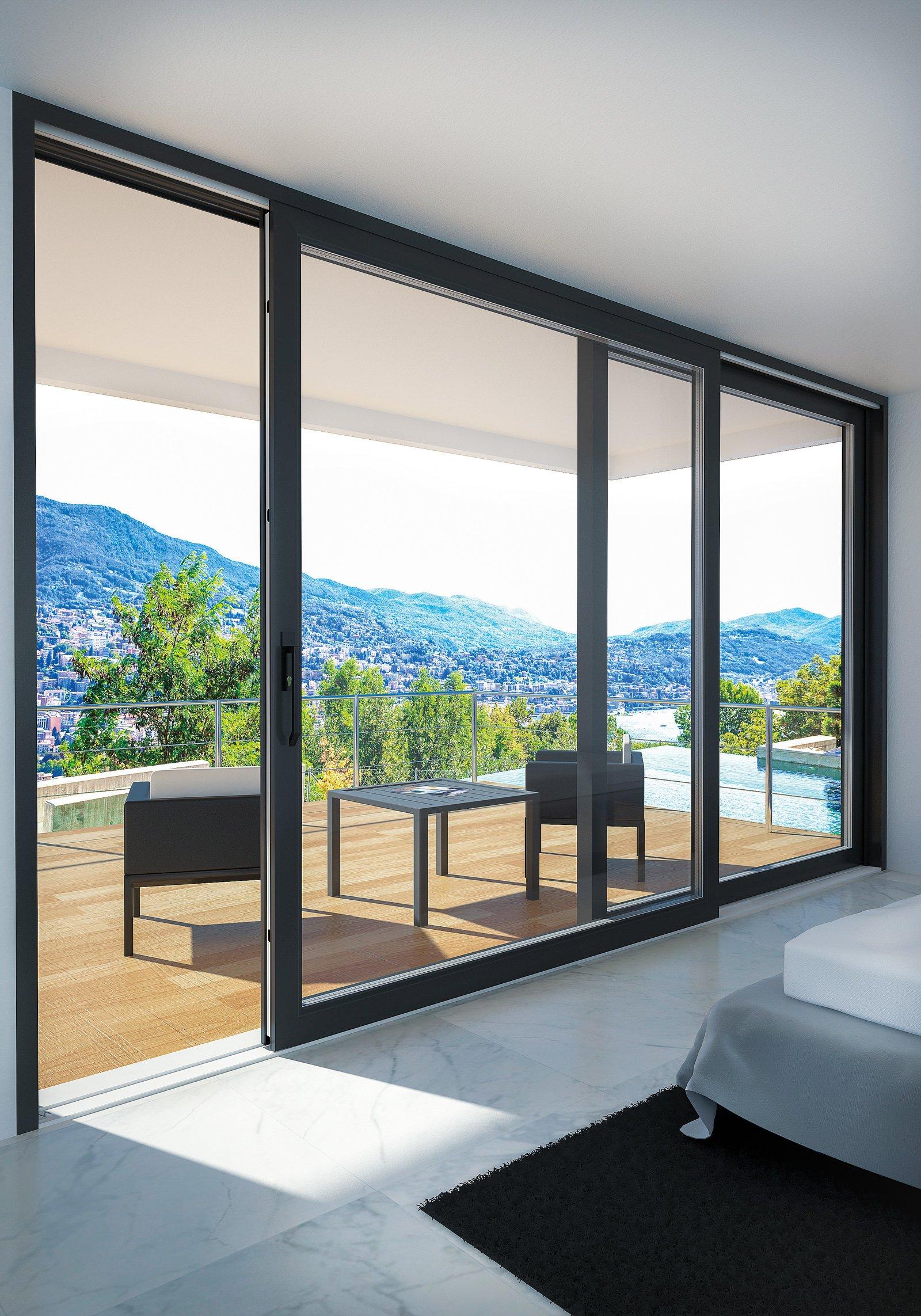 Portefinestre scorrevoli le performance di alzanti e traslanti cose di casa - Altezza parapetto finestra ...