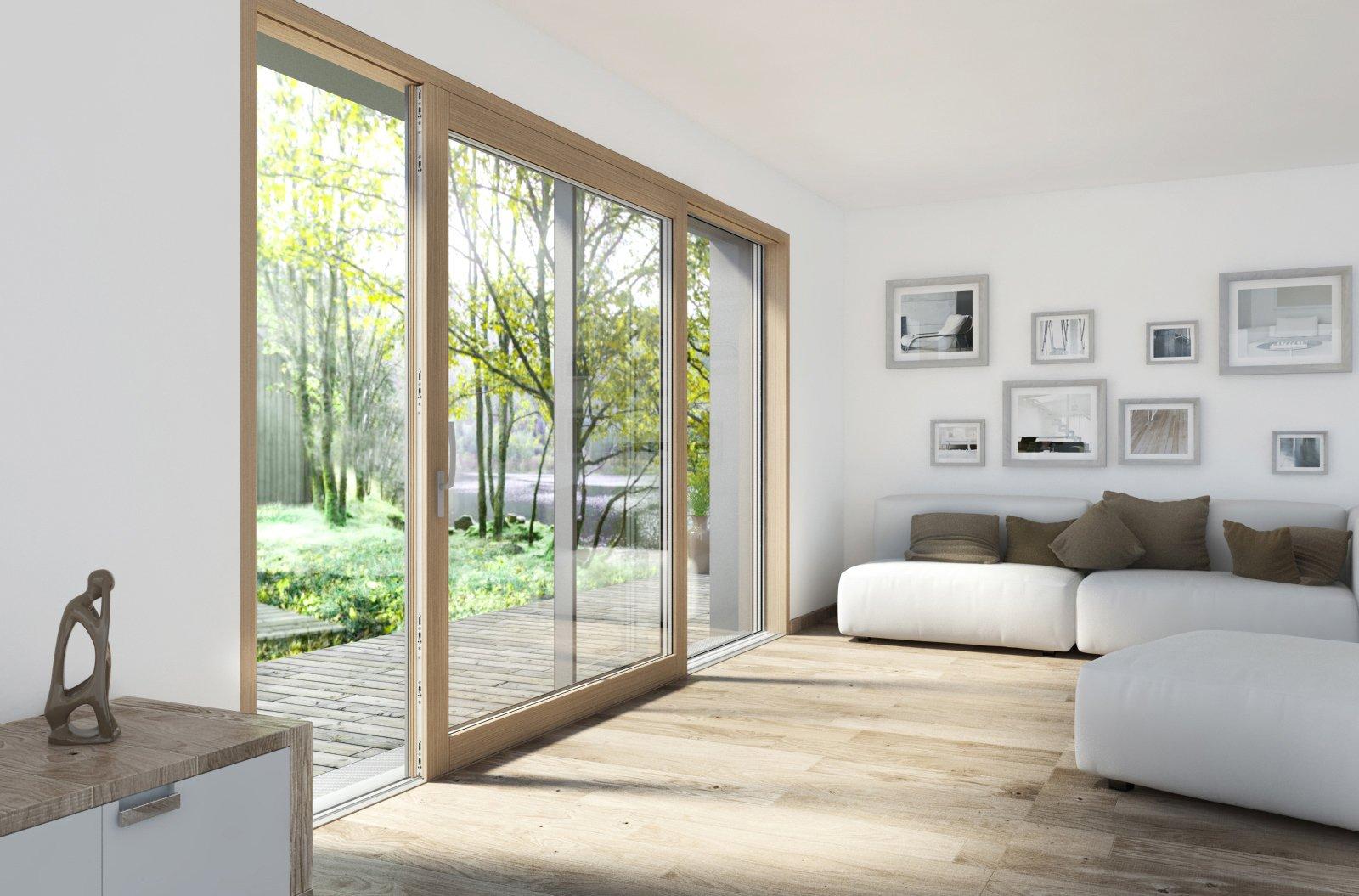 Portefinestre scorrevoli le performance di alzanti e traslanti cose di casa - La finestra sul giardino ...