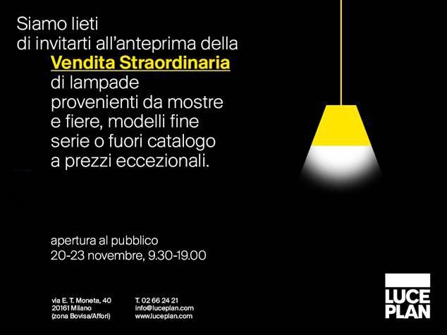 Vendita straordinaria da luceplan 20 23 novembre 2015 for Luceplan catalogo