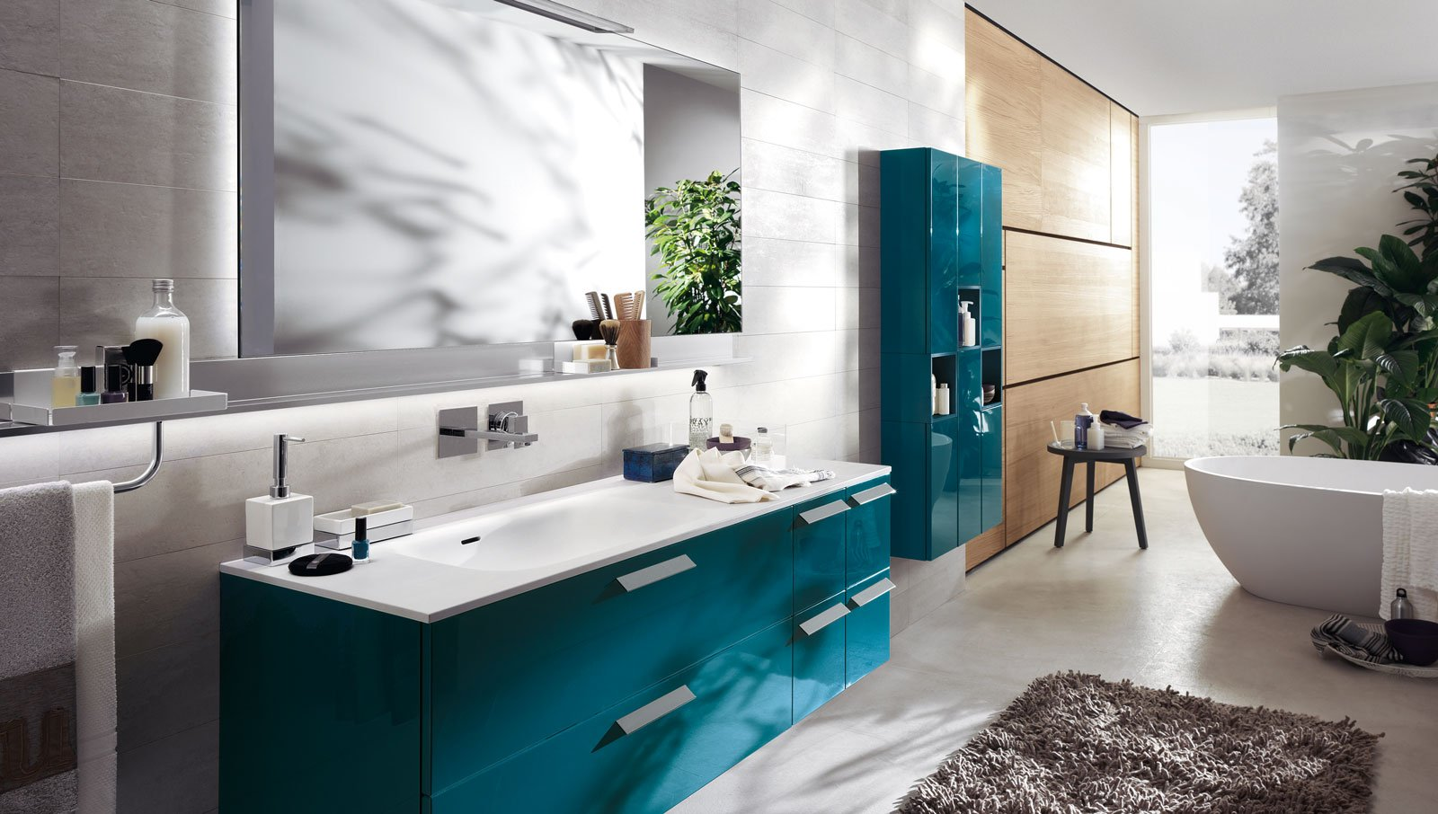 In bagno superfici in solid surface per piani lavabi for Piani di casa eplans