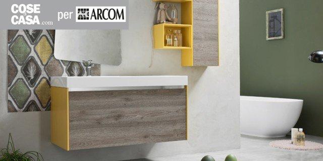Arcom arreda il bagno con i colori dellanuova linea AK laccato