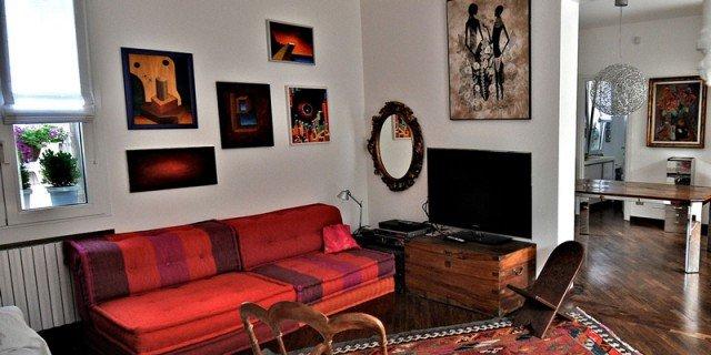 130 mq con mansarda: un appartamento all'ultimo piano raddoppia sfruttando il sottotetto