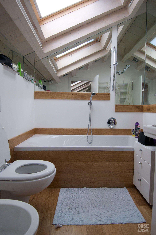 130 mq con mansarda un appartamento all 39 ultimo piano raddoppia sfruttando il sottotetto cose - Bagno in mansarda ...