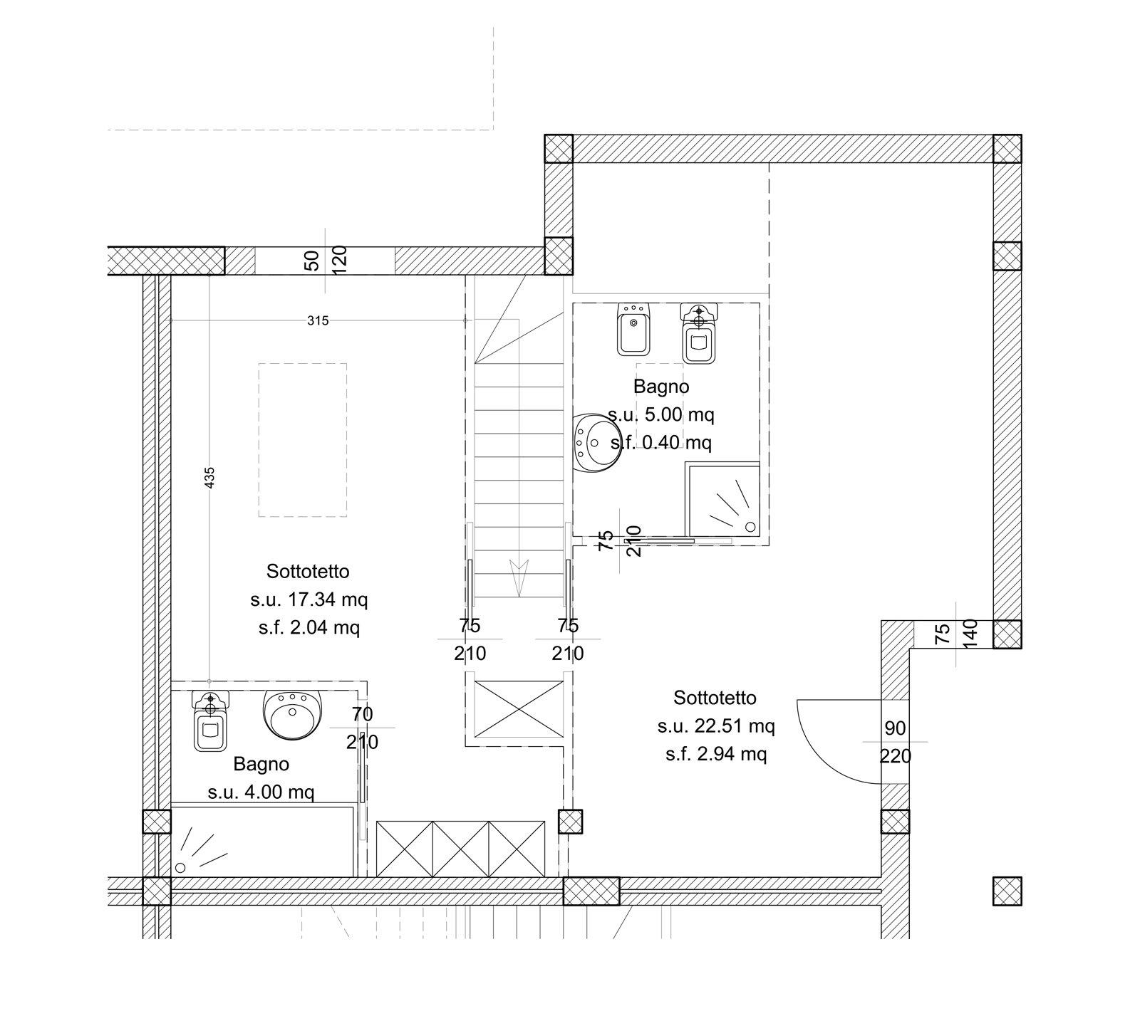 120 mq su due piani con mansarda cose di casa for Piani di casa padronale inglese