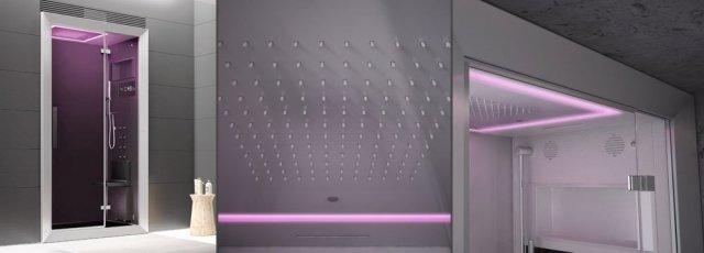 Miscelatore termostatico, soffione a pioggia, display touch, aromaterapia e molto altro ancora sono racchiusi in Frame 100, il box doccia firmato Jacuzziche misura 100 X 75 X 224 cm. www.jacuzzi.it