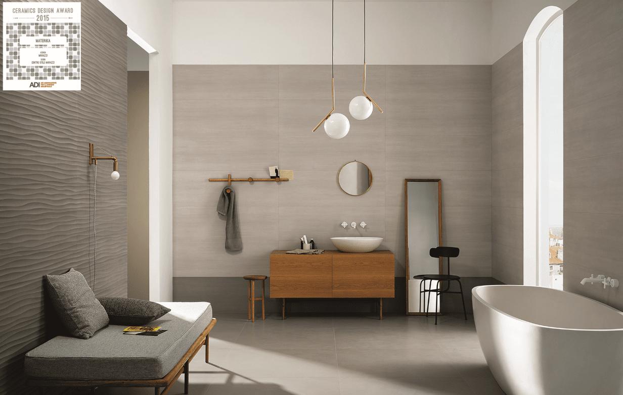 Ceramic design award 2015 vince materika di marazzi for Bagni ragno