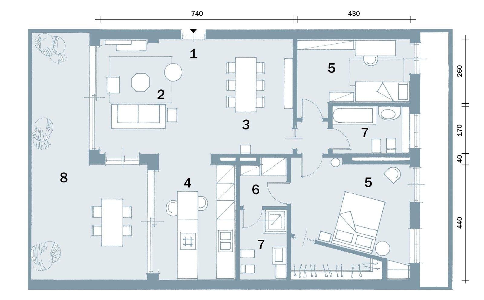 Open space contemporaneo una casa di 100 mq che sembra for 1 piano 3 camere da letto 2 piani del bagno
