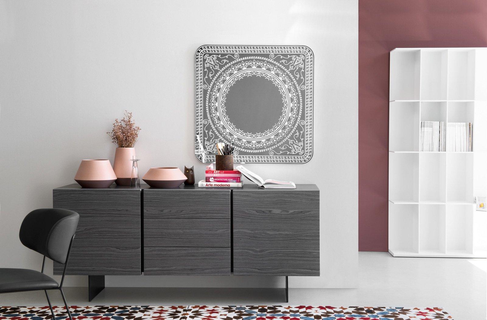 Mobile basso per il soggiorno la madia contemporanea for Mobile parete sala
