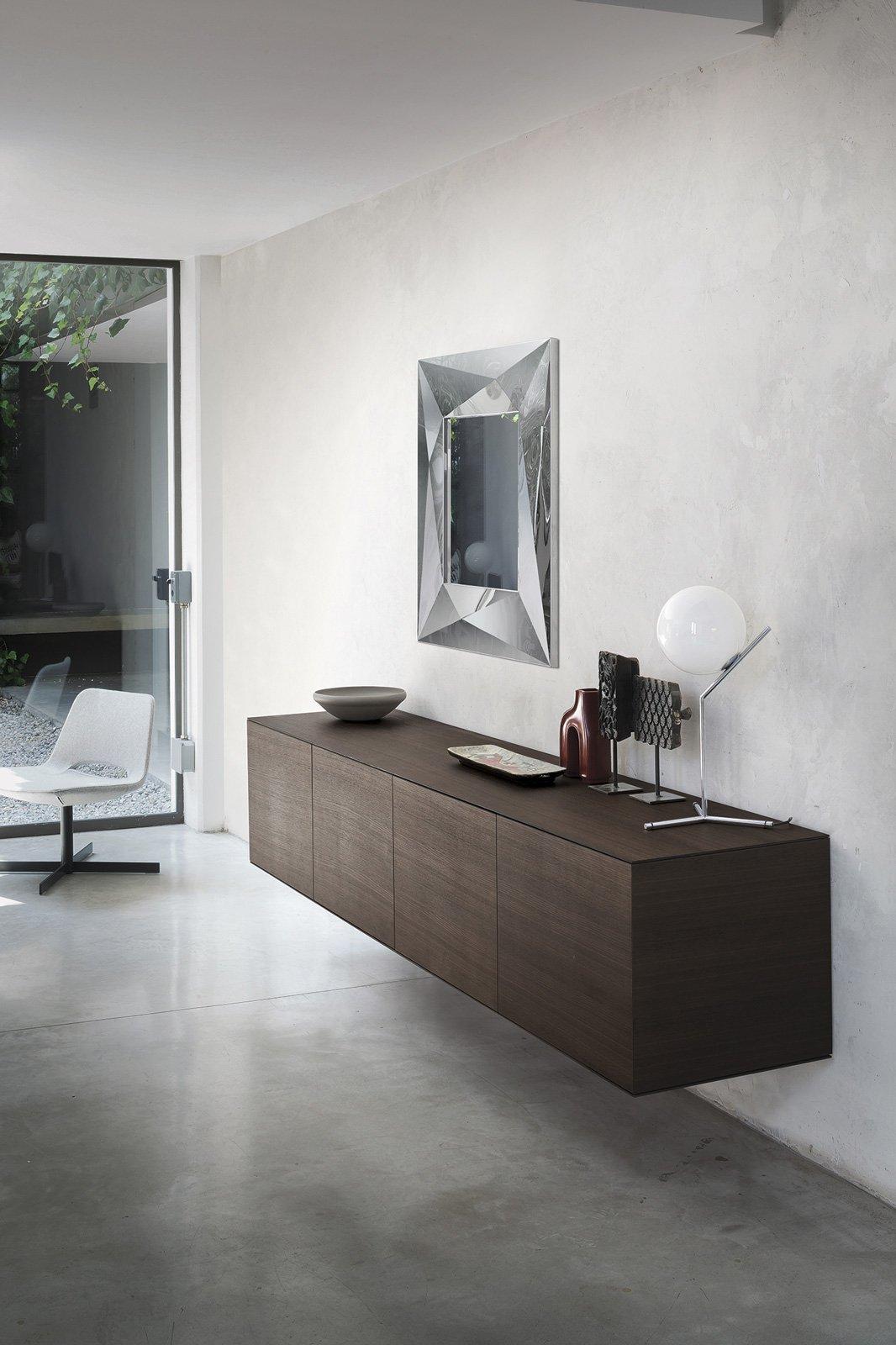 Mobile basso per il soggiorno la madia contemporanea for Case moderne sotto 100k