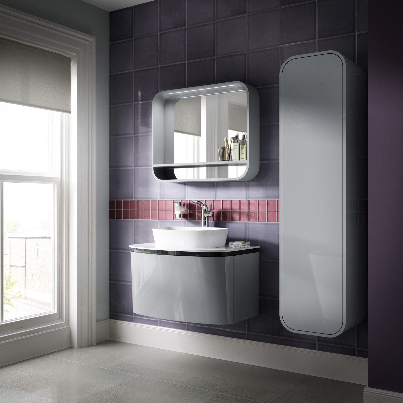 Specchi sopra il lavabo cose di casa for Mensola bianca lucida
