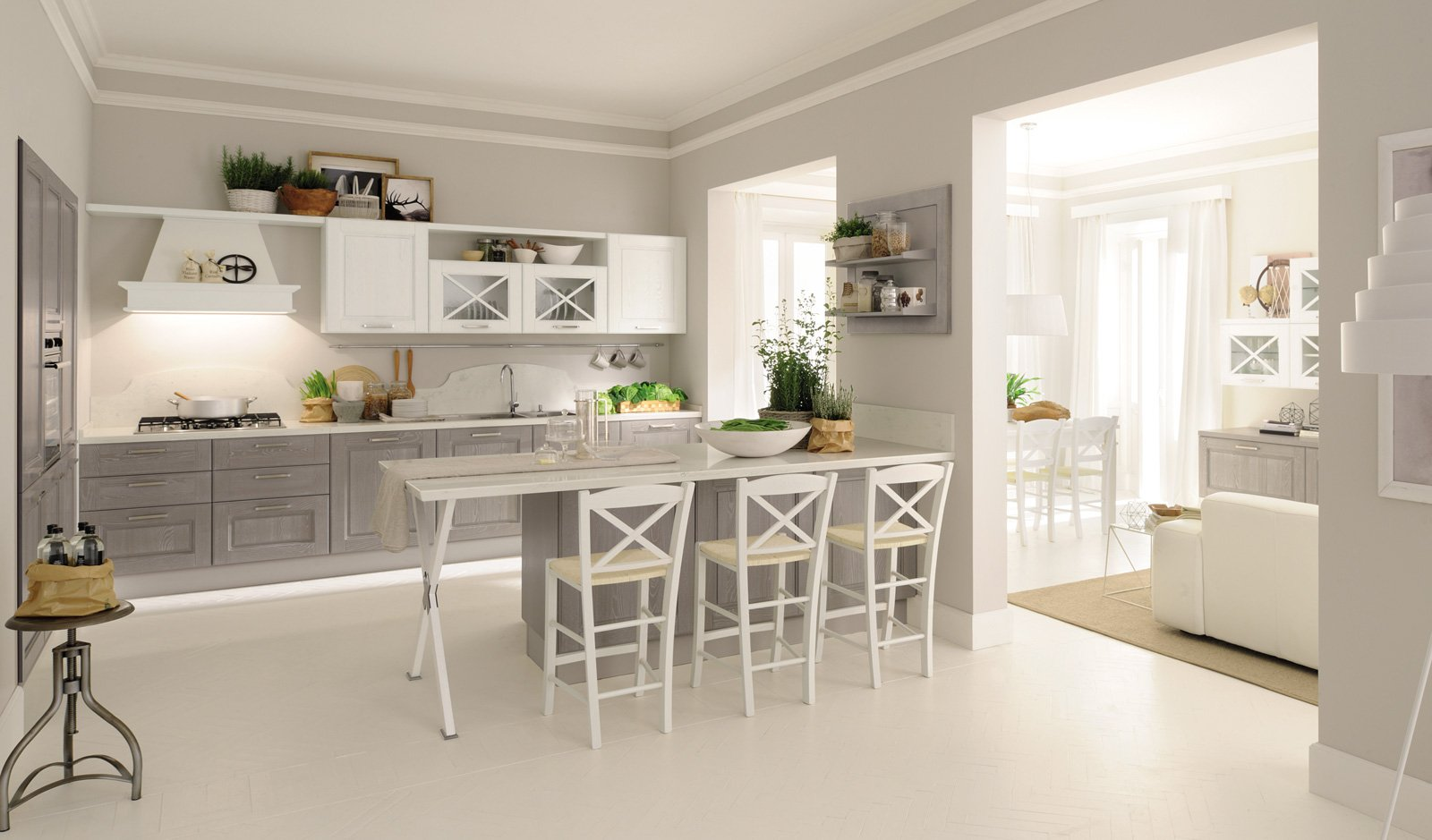 Cucine con ante riquadrate o a telaio cose di casa for Cucine living prezzi