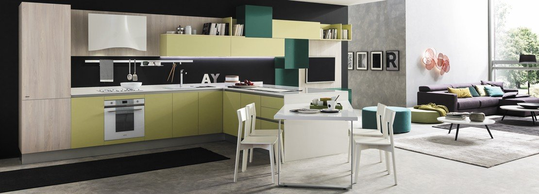 Cucine in colori ed essenze soft cose di casa for Colori di cucine moderne