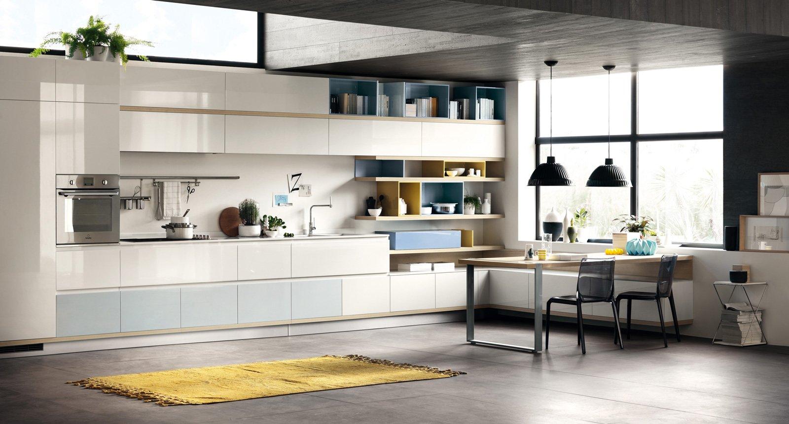 cucine in colori ed essenze soft - cose di casa - Cucine Bianche E Grigie Scavolini