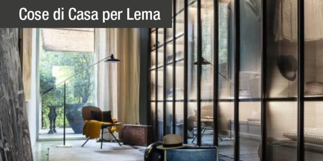 Tendenze: metallo e vetro per gli armadi e le librerie Lema