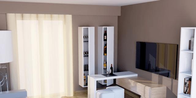 progetti: nel soggiorno, un angolo bar contemporaneo - cose di casa - Soggiorno Living Progetto 2