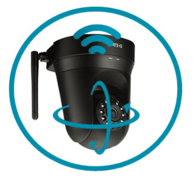 Grazie alla funzione Pan/Tilt (motorizzazione), si può controllare da remoto il Monitor 360 ruotando l'inquadratura a piacimento, per monitorare una vasta area della casa con una singola videocamera.