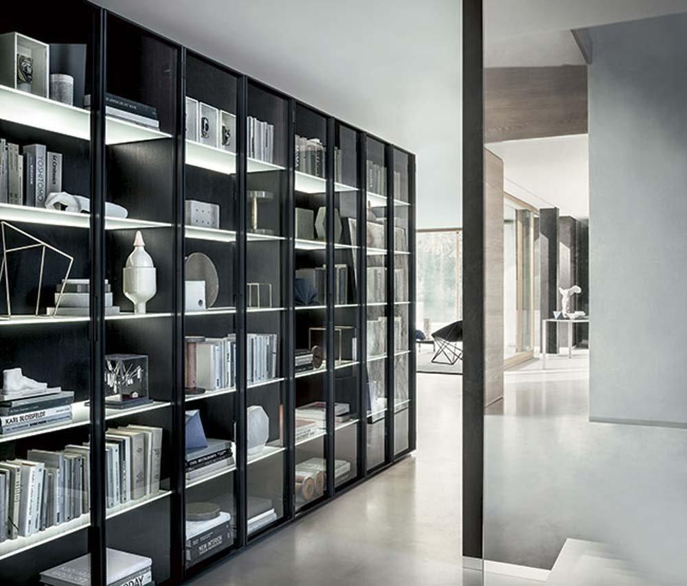 Tendenze: metallo e vetro per gli armadi e le librerie Lema - Cose ...