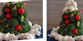 Alberello di Natale vegetale come centrotavola