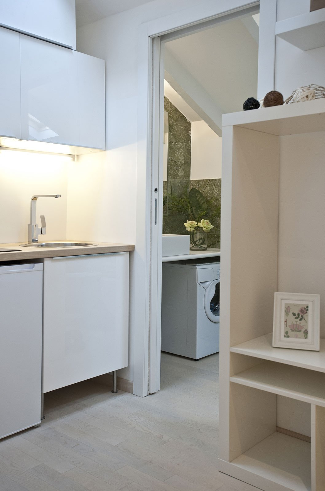 Monolocale sottotetto un piccolo gioiello di 27 mq cose di casa - Bagno e antibagno ...